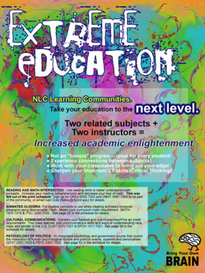 Flyer to advertise learning communities
