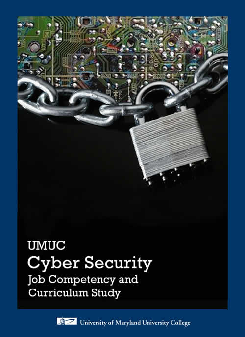 Report cover featuring a circuit board, a lock, and chain.