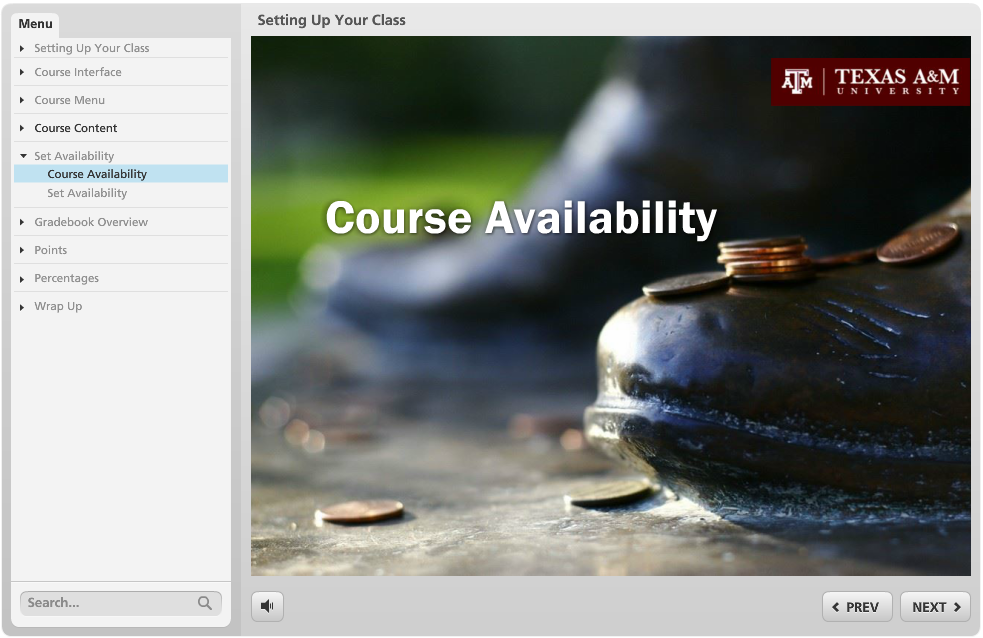 A Storyline module designed to help staff transition from Vista to Blackboard.