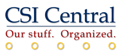 """Logo for our internal wiki. Features five rings to remind staff of """"five golden rules"""" of wiki use."""